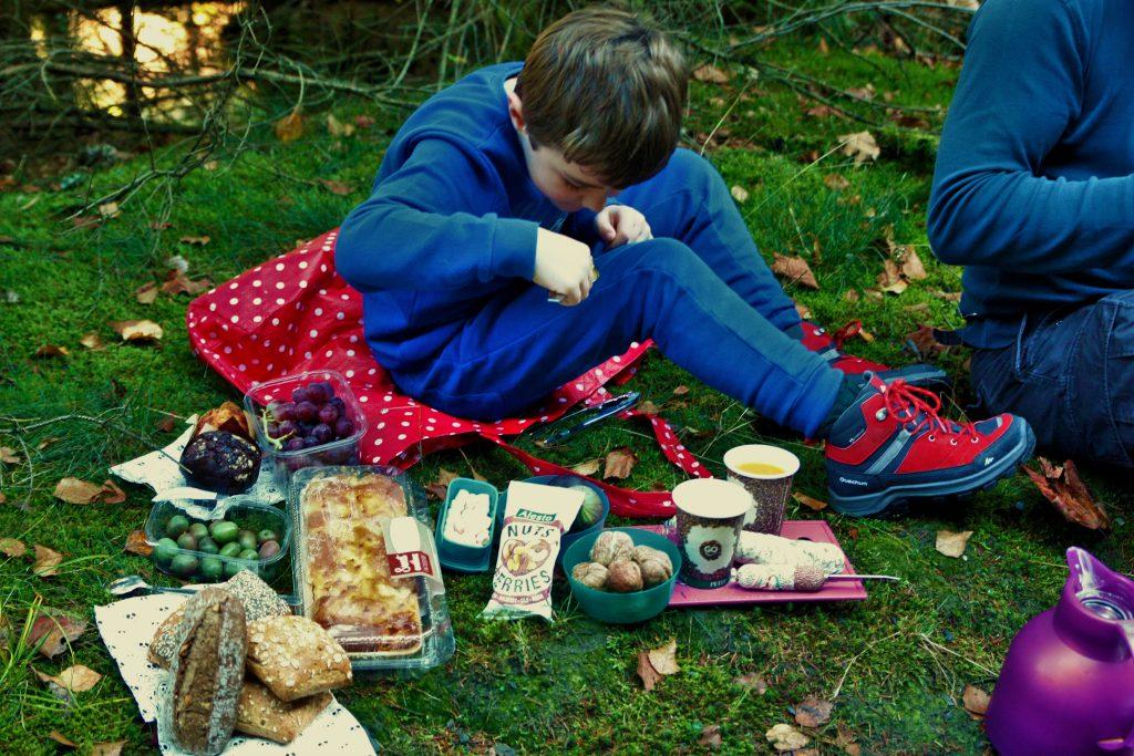 herfstpicknick voor de wandeling les 2 vallées