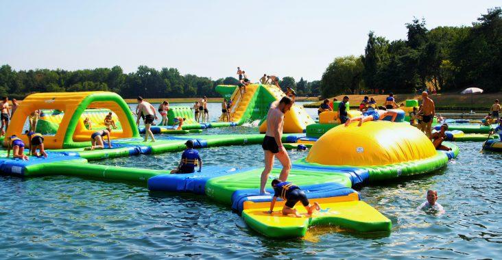 obstakels in het waterpark de ster