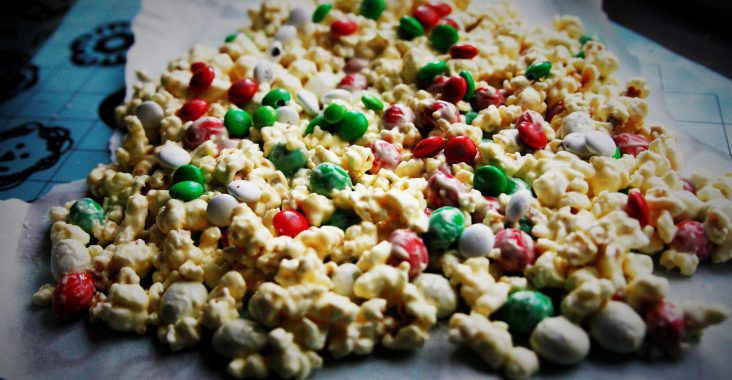 popcorn the grinch kerst m&m marshmallows