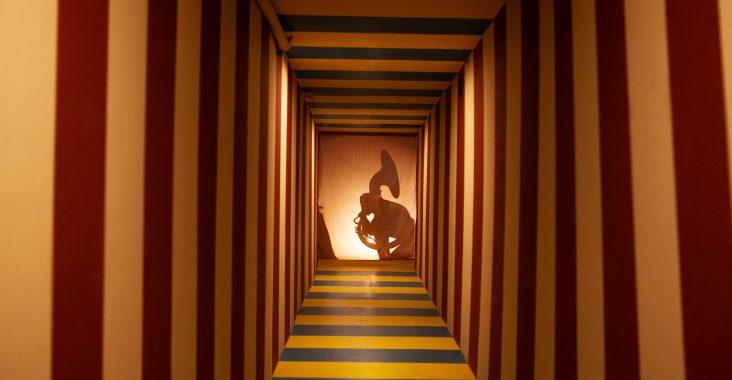 karmanoia een van de kamers in de unieke doolhof doloris meta maze alice in wonderland labyrinth