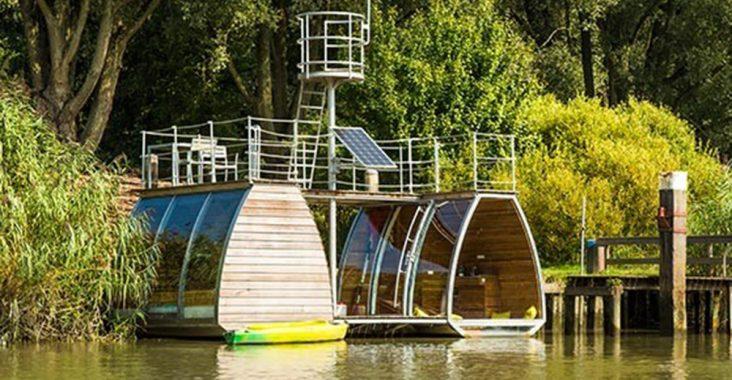 Ecolodge originele overnachting biesbosch nederland