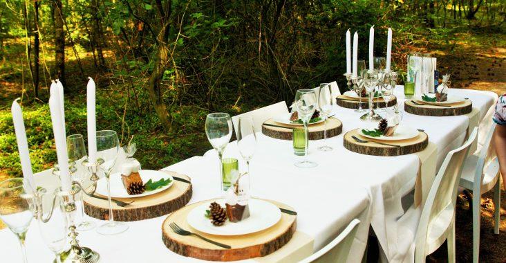 bosbrunch origineel brunchen feest in een bos lentefeest origineel lentefeest diner in een bos