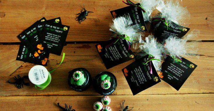 trick or treat halloweenfeestje uitnodiging halloween invitation heksenketels