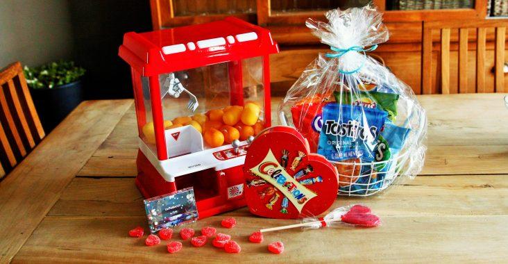 valentijn knutsels candy grabber q-time grabber, q-time coupon boekje, q-time chipszak