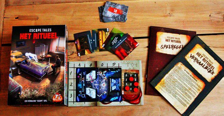 escape tales het ritueel escape room bordspelthriller doos