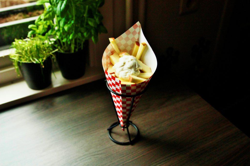 food for kids snacks healty vieruurtje tienuurtje kinderen brooddoos koken met kids Appelfrieten apple fries