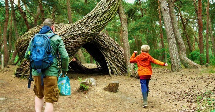 bosland de sahara speelbos will beckers kunst in het bos natuurlijke kunst Lommel op stap met kinderen uistapjes met kinderen wattedoen groen