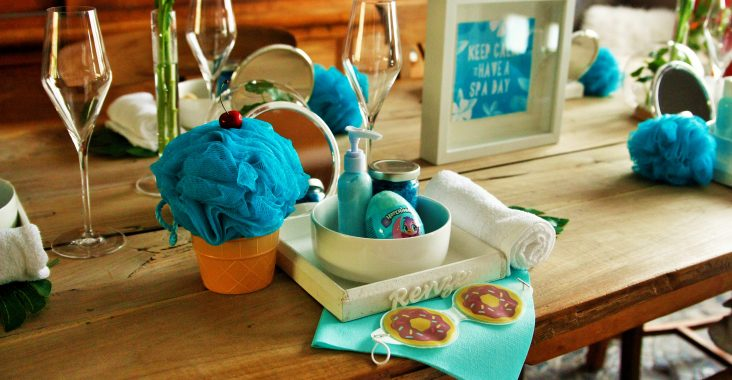 spa party at home spa at home wellness at home wellness resort at home spa gifts wellness gifts zakjes bubbelbad spa table kid