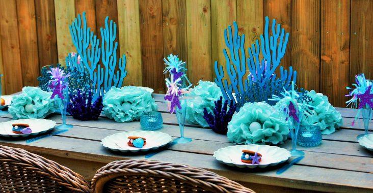 under the sea party mermaid party zeemeermin feest slaapfeest sleepover diy breakfast breakfast ideas mermaid donuts pool diy
